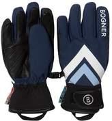 Bogner Navy Branded Ski Gloves
