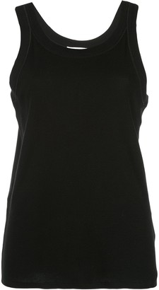 The Row boxy fit round neck vest top