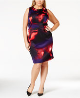 Calvin Klein Plus Size Abstract-Print Sheath Dress