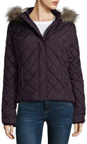Arizona Diamond Quilted Puffer Jacket-Juniors