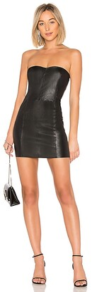 Sprwmn Leather Mini Dress