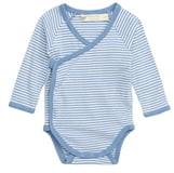 MONICA + Andy Lucky Stripe Organic Cotton Wrap Bodysuit