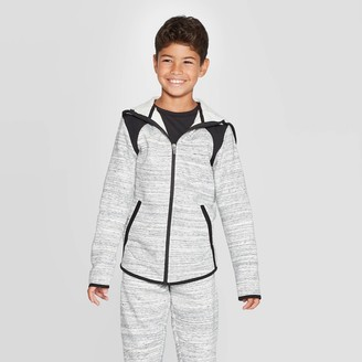 Champion Boy' Premium Woven Pieced Fleece Full Zip Hoodie