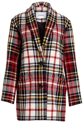 Derek Lam 10 Crosby Plaid Cocoon Coat