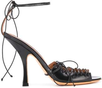 Y/Project lace-up stiletto sandals