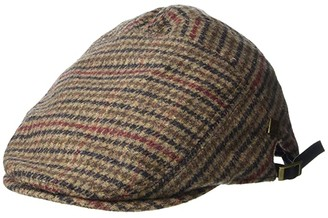 San Diego Hat Company SDH3329 7-Panel Plaid Driver (Brown) Caps