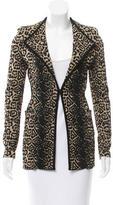Givenchy Knit Leopard Patterned Blazer
