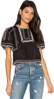Rebecca Taylor Short Sleeve Esme Embroidered Top
