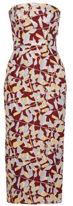 J. Mendel J.mendel Strapless Metallic Jacquard Midi Dress