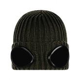 C.P. Company C.P. CompanyBoys Khaki Knitted Goggle Hat