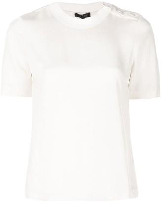 Rag & Bone button shoulder T-shirt