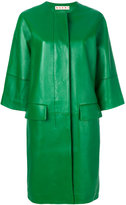 Marni oversized leather lambskin coat - women - Lamb Skin/Viscose - 40