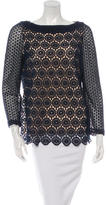 Tory Burch Long Sleeve Lace Blouse