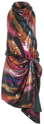 ATTICO Kaya sequined halter dress