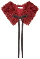 Helmut Lang Mongolian-fur collar