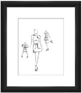 "PTM Images Runway Pose II Black Framed Giclee Print - 14\"" x 16\"""