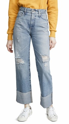 AG Jeans Women's Tomas HIGH Rise Baggy FIT Straight Leg Jean