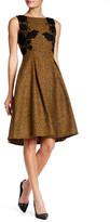 Eva Franco Lucy Wool Blend Lace Detail Dress