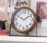 Pottery Barn Nicholas Brass Desktop Clock