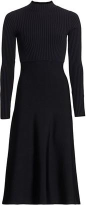 Theory Ribbed Midi Dress