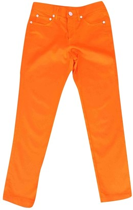 Blumarine Orange Cloth Trousers for Women