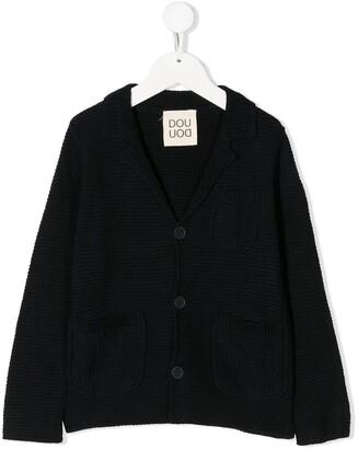 Douuod Kids Long-Sleeve Knitted Blazer