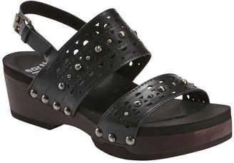 Earth Leather Platform Sandals - Pine Toba