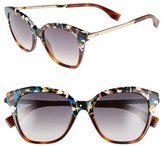 Fendi Women's 52Mm Retro Sunglasses - Havana/ Multi/ Gold