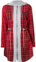 Moschino checked hoodie mini dress