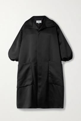 Maison Margiela Oversized Duchesse-satin Coat - Black