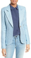 Smythe Women's Duchess Stripe Linen Blazer