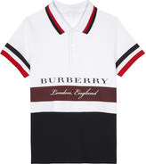 Burberry Logo cotton polo shirt 4-14 years