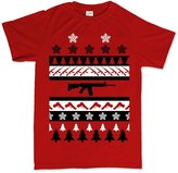 Customised Perfection Guns AR-15 1911 Xmas Christmas Ugly Sweater G43 G19 T Shirt XL