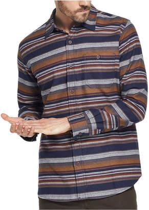 Weatherproof Vintage Men Brushed Striped Flannel Shirt