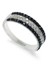 Black Diamond Effy 14k White Gold Diamond Ring