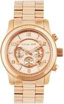 MICHAEL Michael Kors Men's 45mm Runway Chronograph Bracelet Watch, Rose Gold
