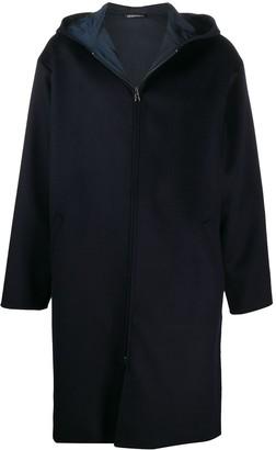Emporio Armani Hooded Zip-Up Lightweight Coat