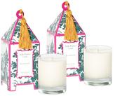 Seda France Plum Chypre Mini Pagoda Candles (2 OZ) (Set of 2)