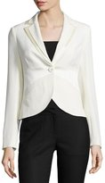 Moschino One-Button Fitted Blazer, Ivory
