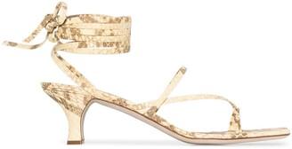 Paris Texas Snake Print Sandals