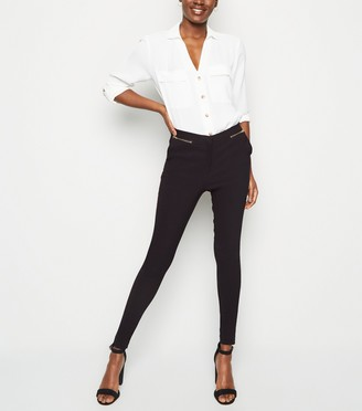 New Look Tall Zip Front Slim Stretch Trousers