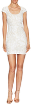Dress the Population Gabriella Sequin Cut Out Mini Dress