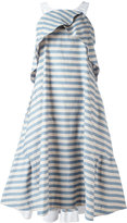 Jil Sander Navy striped dress - women - Cotton/Polyester - 34