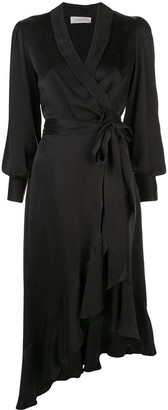 Zimmermann asymmetric wrap-style dress