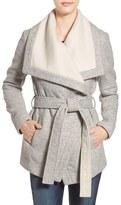 BCBGeneration Women's Belted Two-Tone Wrap Jacket