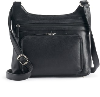 ili Leather Crossbody Organizer Hobo Bag