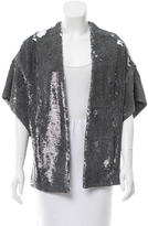 IRO Sequin Embellished Open Front Vest w/ Tags