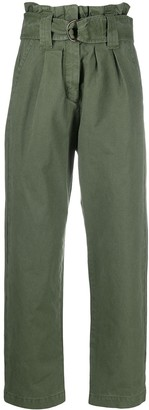 Masscob Paperbag-Waist Cropped Trousers