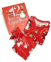 """Books To Bed Toddler's & Little Girl's Three-Piece """"12 Days of Christmas"""" Pajamas & Book Set"""