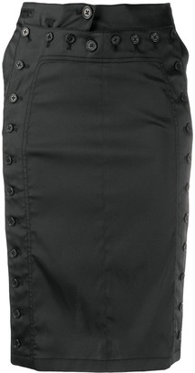 Ann Demeulemeester Button Fitted Skirt